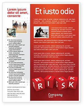 Business: Red Risk Cubes Flyer Template #02837