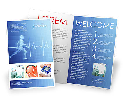 Pulse Brochure Template, 02839, Medical — PoweredTemplate.com