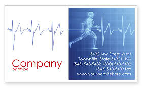 Pulse Business Card Template, 02839, Medical — PoweredTemplate.com