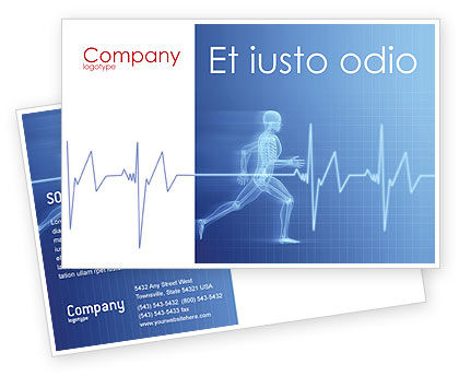 Medical: Pulse Postcard Template #02839
