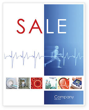 Pulse Sale Poster Template, 02839, Medical — PoweredTemplate.com