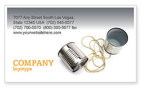 Business Concepts: Can Phone Business Card Template #02843