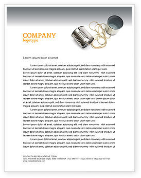 Business Concepts: Can Phone Letterhead Template #02843