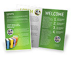 Education & Training: Plantilla de folleto - libros #02844