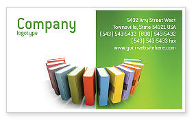 Books Business Card Template, 02844, Education & Training — PoweredTemplate.com
