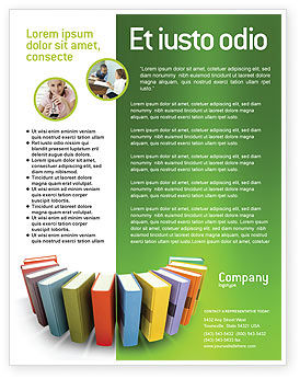 Books Flyer Template, 02844, Education & Training — PoweredTemplate.com