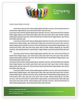 Books Letterhead Template, 02844, Education & Training — PoweredTemplate.com