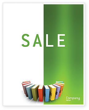 Books Sale Poster Template, 02844, Education & Training — PoweredTemplate.com