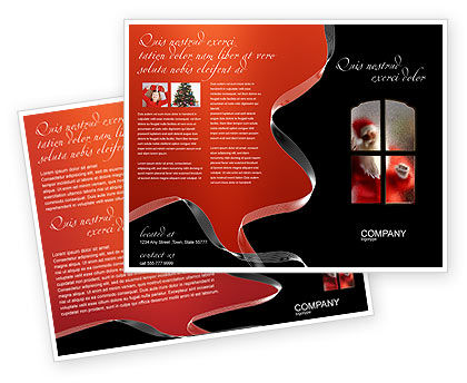 Santa Claus Coming Brochure Template, 02845, Holiday/Special Occasion — PoweredTemplate.com