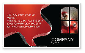 Holiday/Special Occasion: Santa Claus Coming Business Card Template #02845