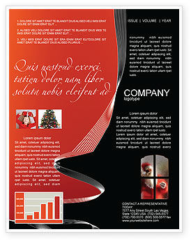 Holiday/Special Occasion: Santa Claus Coming Newsletter Template #02845