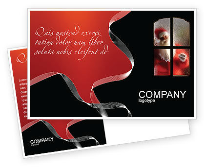 Holiday/Special Occasion: Santa Claus Coming Postcard Template #02845