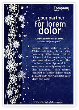 Snowflakes Ad Template, 02846, Holiday/Special Occasion — PoweredTemplate.com