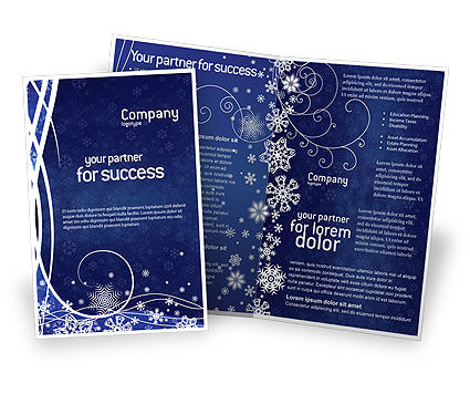 Holiday/Special Occasion: Snowflakes Brochure Template #02846