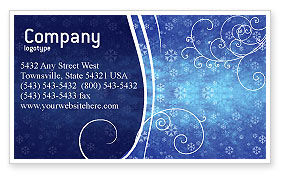 Holiday/Special Occasion: Snowflakes Business Card Template #02846