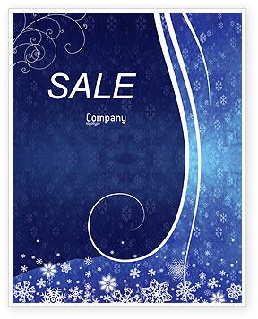 Holiday/Special Occasion: Snowflakes Sale Poster Template #02846