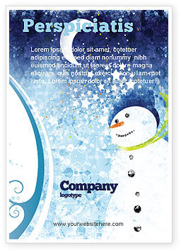 Snowman Ad Template, 02847, Holiday/Special Occasion — PoweredTemplate.com