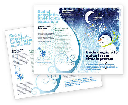 Snowman Brochure Template, 02847, Holiday/Special Occasion — PoweredTemplate.com