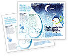 Holiday/Special Occasion: Snowman Brochure Template #02847