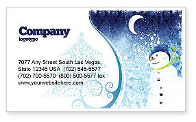 Holiday/Special Occasion: Snowman Business Card Template #02847