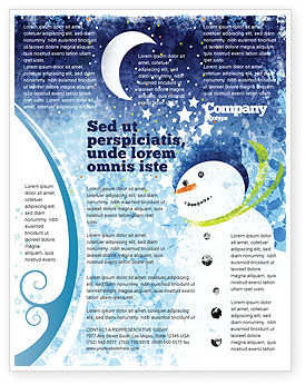 Holiday/Special Occasion: Snowman Flyer Template #02847