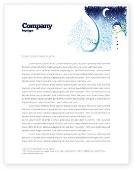 Snowman Letterhead Template, 02847, Holiday/Special Occasion — PoweredTemplate.com