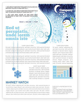 Snowman Newsletter Template, 02847, Holiday/Special Occasion — PoweredTemplate.com