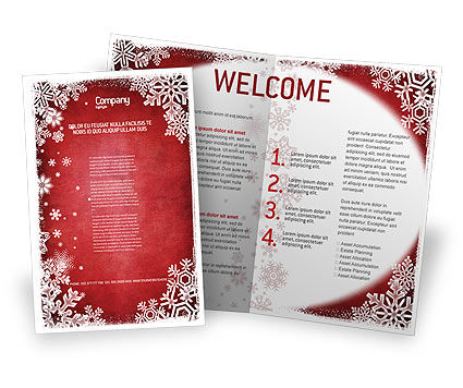 Christmas Theme Brochure Template Design And Layout Download Now