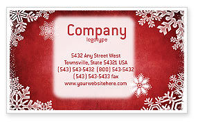 Holiday/Special Occasion: Christmas Theme Business Card Template #02848