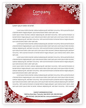 Christmas Theme Letterhead Template, Layout for Microsoft Word ...
