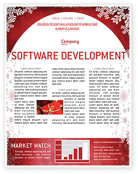Christmas Theme Newsletter Template, 02848, Holiday/Special Occasion — PoweredTemplate.com