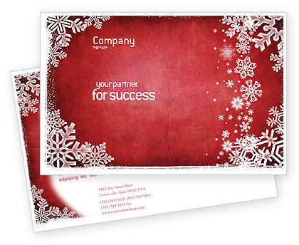Holiday/Special Occasion: Christmas Theme Postcard Template #02848