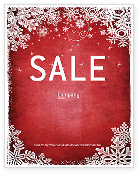 Holiday/Special Occasion: Christmas Theme Sale Poster Template #02848