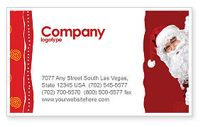 santa around the corner business card template