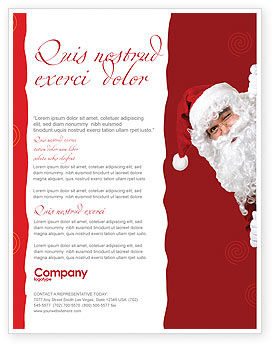 Holiday/Special Occasion: Santa Around the Corner Flyer Template #02849