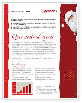 Holiday/Special Occasion: Santa Around the Corner Newsletter Template #02849