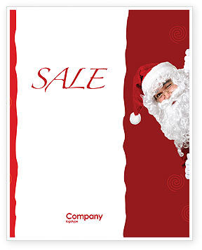 Holiday/Special Occasion: Santa Around the Corner Sale Poster Template #02849