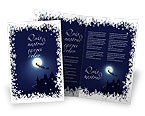 Holiday/Special Occasion: Santa's Sleigh On The Background Of The Moon Brochure Template #02850
