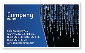 Matrix Theme Business Card Template, 02851, Technology, Science & Computers — PoweredTemplate.com