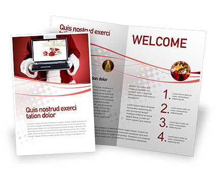 Holiday/Special Occasion: Christmas Presents Online Brochure Template #02852