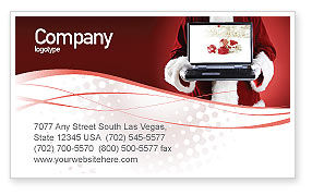 Holiday/Special Occasion: Christmas Presents Online Business Card Template #02852