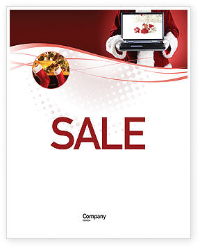 Holiday/Special Occasion: Christmas Presents Online Sale Poster Template #02852