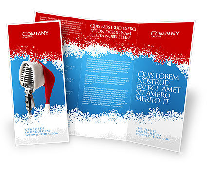 Christmas songs brochure template design and layout for Christmas brochure template