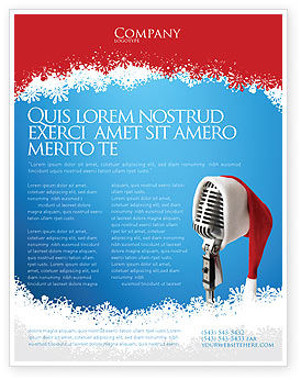 Christmas Songs Flyer Template Background In Microsoft Word - Christmas flyer templates microsoft publisher