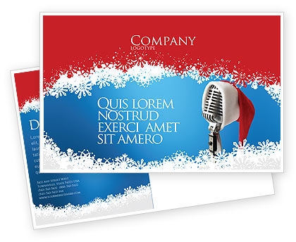 Holiday/Special Occasion: Christmas Songs Postcard Template #02853