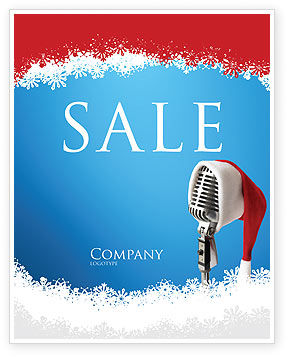 Christmas Songs Sale Poster Template, 02853, Holiday/Special Occasion — PoweredTemplate.com