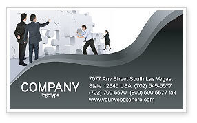 Business Concepts: Brainstorm Business Card Template #02856