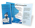 Holiday/Special Occasion: Smiling Snowman Brochure Template #02857
