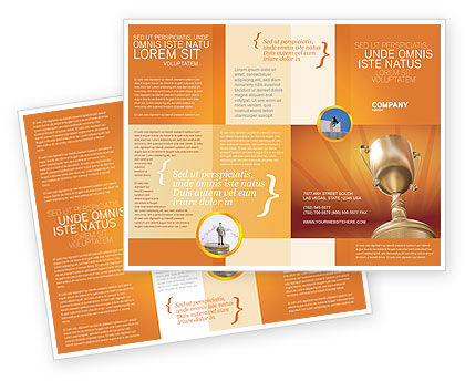 Award Brochure Template, 02858, Business Concepts — PoweredTemplate.com
