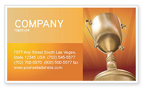 Award Business Card Template, 02858, Business Concepts — PoweredTemplate.com